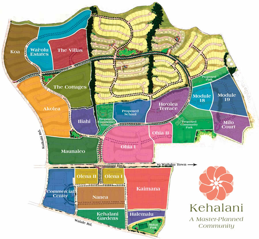 Kehalani Master Plan Map